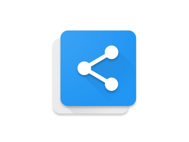 Copy Share - Android App Icon share icon copy icon mike milla psd sketch app icon material design