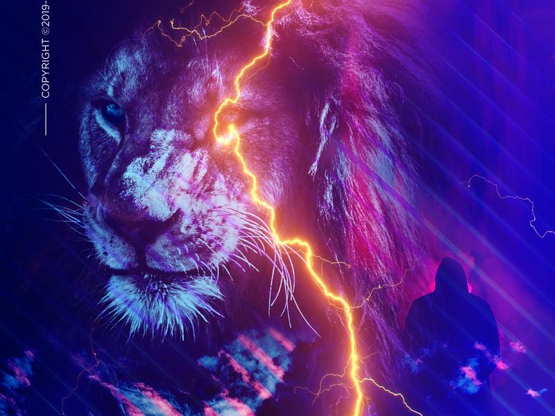 Once Lost Lion design flyer artwork bladesettler dwayneadams photoshop