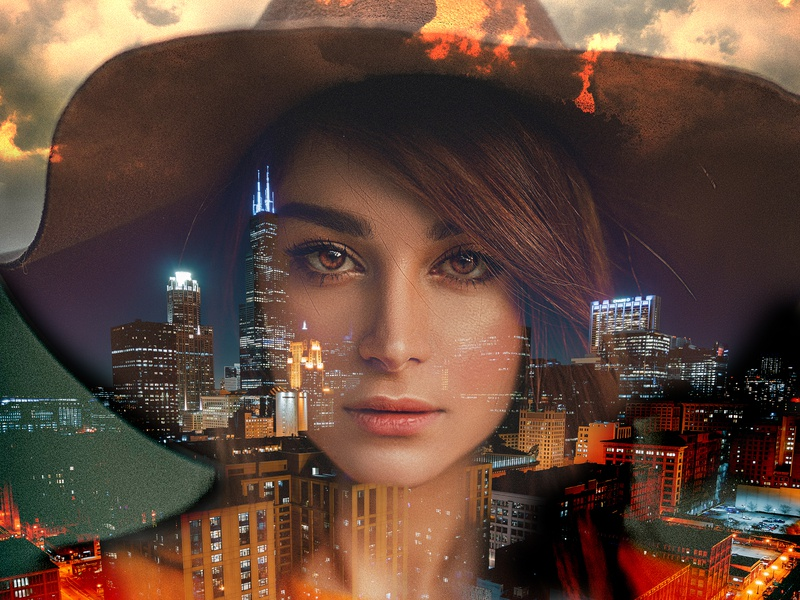 City Girl design flyer artwork bladesettler dwayneadams photoshop graphicdesign