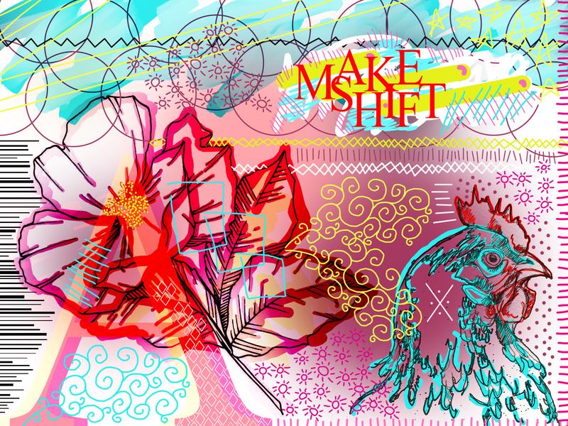 A Rooster Make Shift illustration design flyer artwork bladesettler dwayneadams graphicdesign photoshop