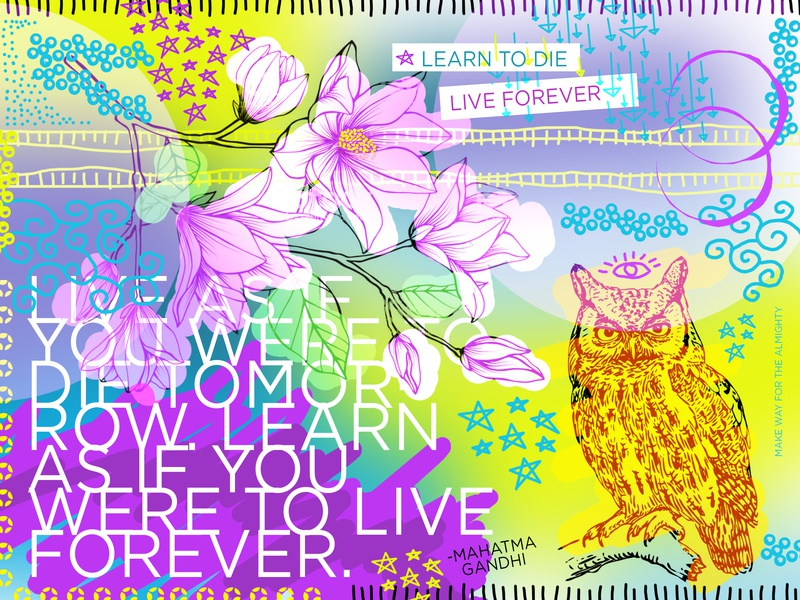 Knowledge to Live or Die design flyer artwork bladesettler dwayneadams graphicdesign photoshop