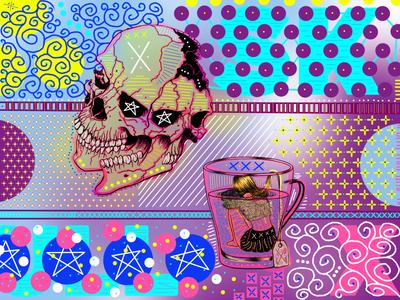 Skulls of Tea design dwayneadams graphicdesign photoshop