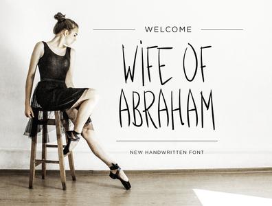 Wife of Abraham Font fontself font family hand drawn vector dwayne adams illustrator font design fonts