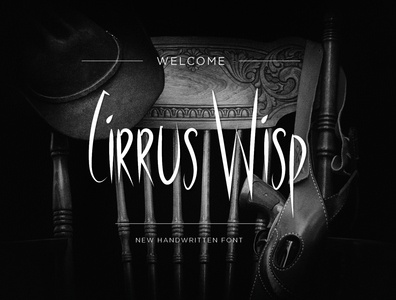 Cirrus Wisp Font vector illustrator dwayneadams fonts font design font