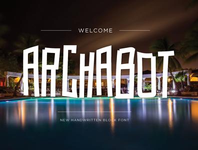 ArchaBot FontDisplay7 vector illustrator dwayne adams fonts font design font