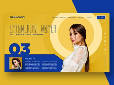 Empowering Women Landing Page