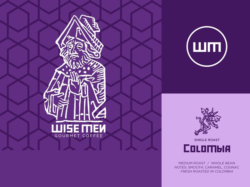 Wise Men Coffee |  Branding and Packaging branding logo illustration dwayne adams graphicdesign photoshop