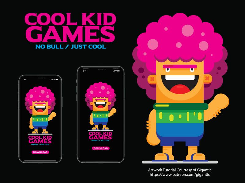 Cool Kid Games Mockup Courtesy of Gigantic gigantic vector branding design dwayne adams illustration photoshop