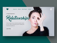 Relationships Dating Website Mock-up