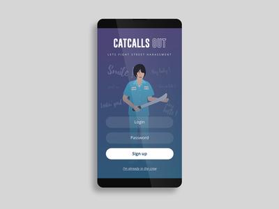 Daily UI challenge #001 – Sign Up feminism sense8 catcalls signup app ui ux dailyui