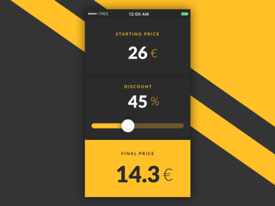 Daily UI challenge #004 – Calculator sales discount price calculate calculator app ux ui challenge dailyui