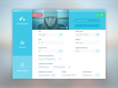 Daily UI challenge #007 – Settings settings app medical health ui ux challenge dailyui