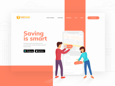 Landing Page for Shopping App