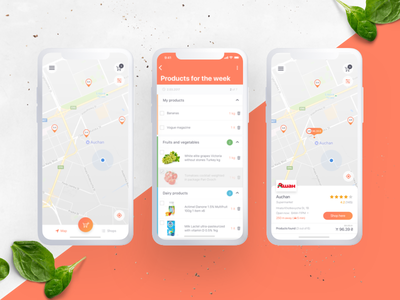 Grocery Shopping App supermarket application grocery shopping