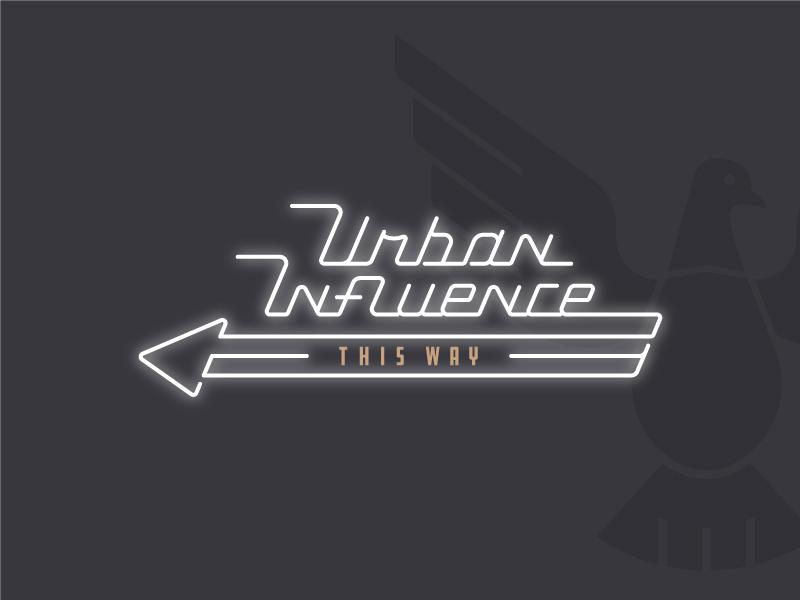 Ui Neon 3 logo urban influence brand neon