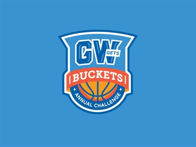 GW Gets Buckets crest sports marchmadness buckets basketball march