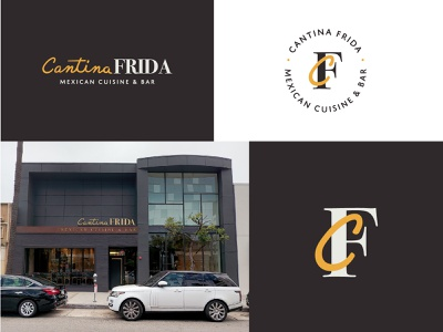 Cantina Frida hand lettering handlettering fancy high end monogram cuisine bar mexican food restaurant california beverly hills frida cantina