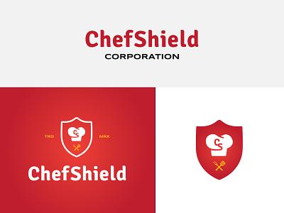 Chef Shield cook spatula hat restaurant food shield chef