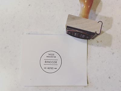 Rubber Stamp stationery brand design typography logo crest seal address stamp rubber stamp