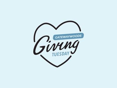 Giving Tuesday lettering handlettering script love heart giving tuesday branding graphic design logo illustration brand gateway woods