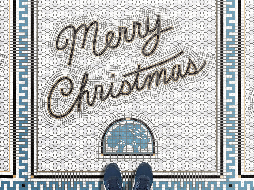 Christmas fauxsaic