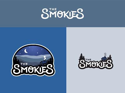Smokies smoke pine tree tennessee appalachian moon night cabin mountains smokies