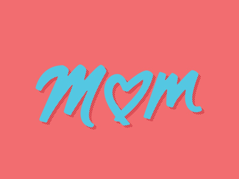 Mom type lettering hashtag lettering handlettering heart mothers day mother mom