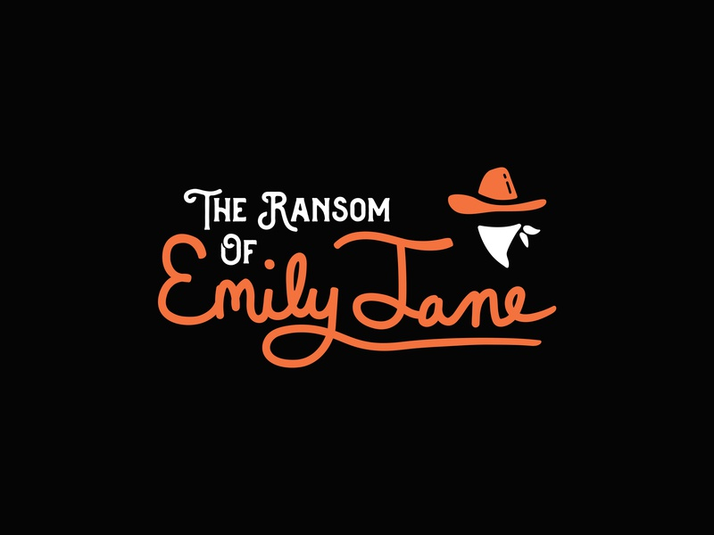 Ransom hashtaglettering handlettering lettering school poster play bandana kidnapping cowboy bandit wild west western ransom