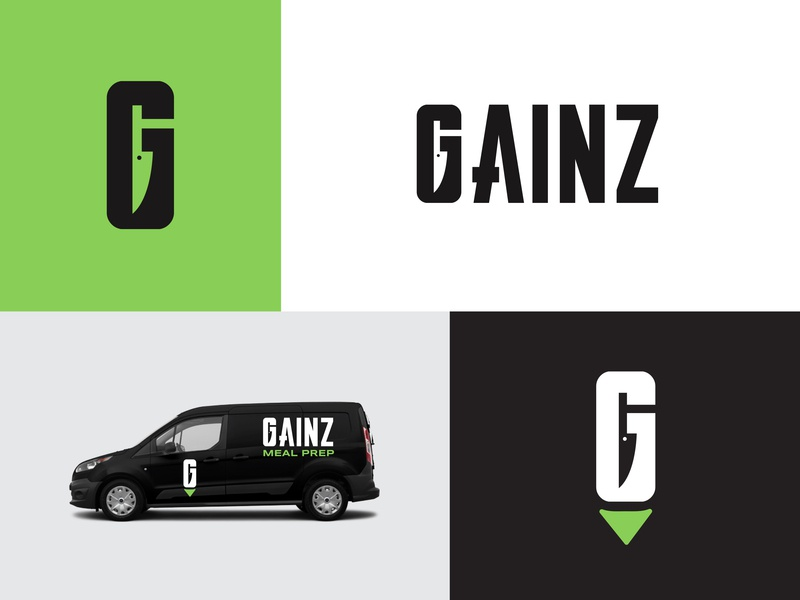 Gainz vehicle icon knife chef food health healthy fitness nutrition meal meal prep gainz