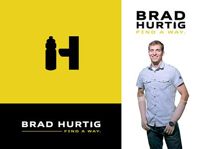 Find A Way monogram h yellow football motivational speaker motivation icon water bottle