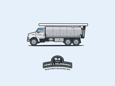 Feed Truck illustration trucking trucker farm semi truck feed truck