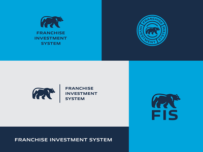 FIS logo seal real estate business franchise icon crest bear