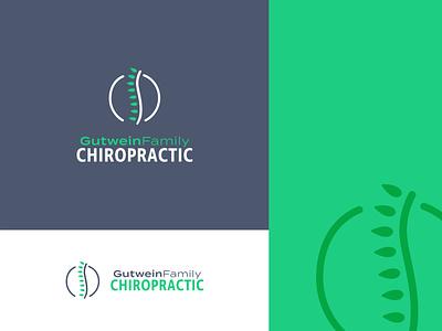 Chiropractor massage holistic health leaf leaves green spine logo chiropractor chiropractic