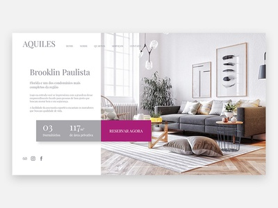 Aquiles Landing Page concept web ux ui