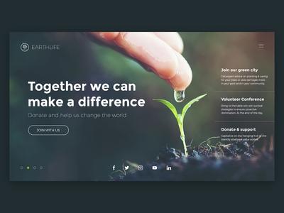 Earthlife web ux ui concept