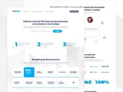 Landing Page for Documents Shopping ecommerce interface landing page document concept design web uiux ux ui