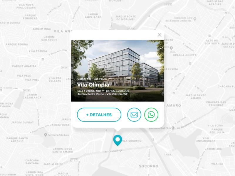 Map Propertie web ux concept ui