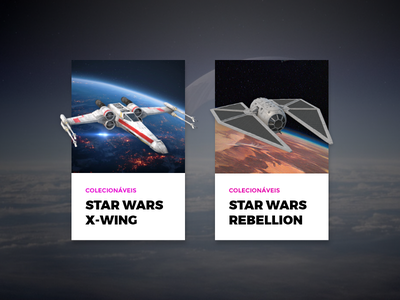 Card - Star Wars Toy 3d interface card web concept ui