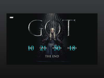 GOT - The end comming soon design web concept ui