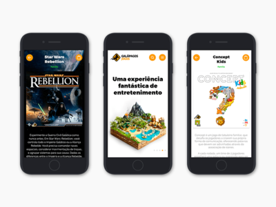 Galápagos Jogos - Redesign design mobile web concept ux ui