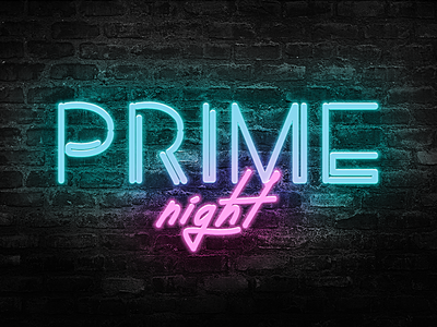 Prime Night logo branding