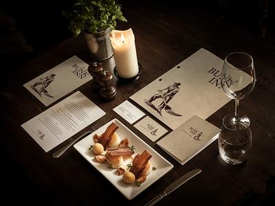 'The Bunk Inn' brand and photography stationery menu logo food photography design brand hotel pub restaurant