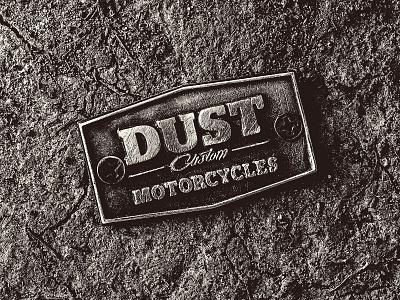 Dust Motorcycles Badge brand logo cast bobber motorcycle badge custom