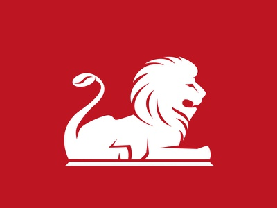 Coffee bean tail for 'Cafe on the Square' brand cafe coffee trafalgar square lion mark logo