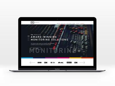 TSL web design pitch video broadcasting design web website audio digital