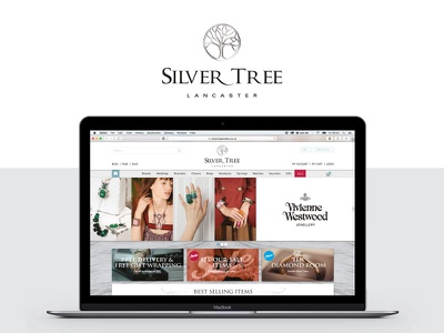 Silver Tree Jewellery website necklace ring bracelet jewellery diamond westwood vivienne digital design brand web ecommerce