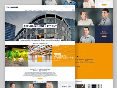 Pexhurst web design wordpress architecture interior desktop digital design website
