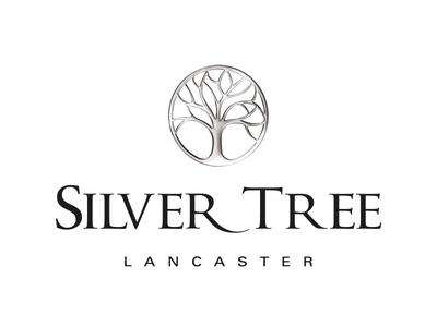 Silver Tree Jewellery logo chrome tree of life brand rendered