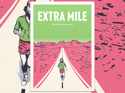Extra Mile shot last poster road mile extra canyon grand running gump forrest
