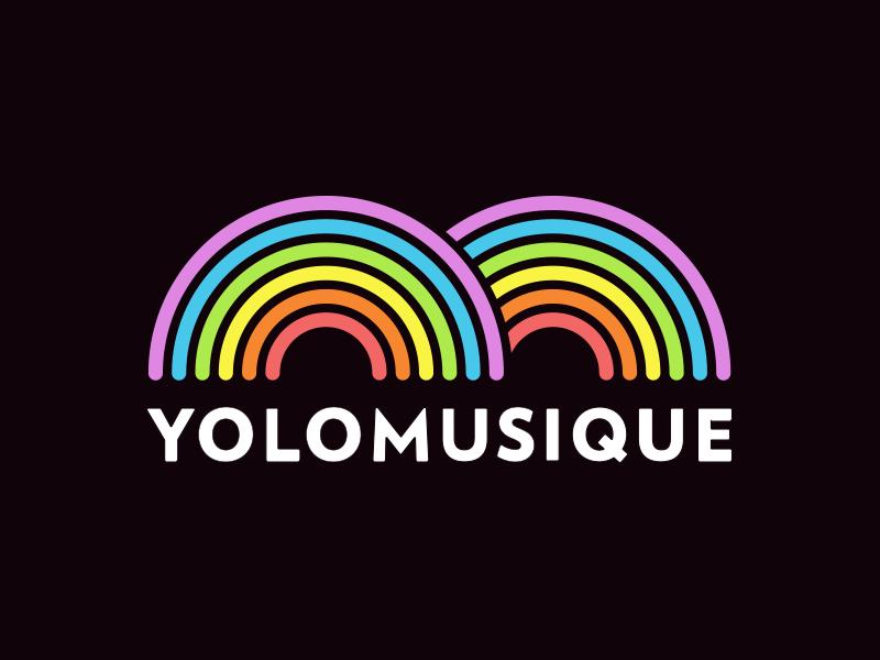 Yolomusique Logo music yolo musique icon logo double rainbow